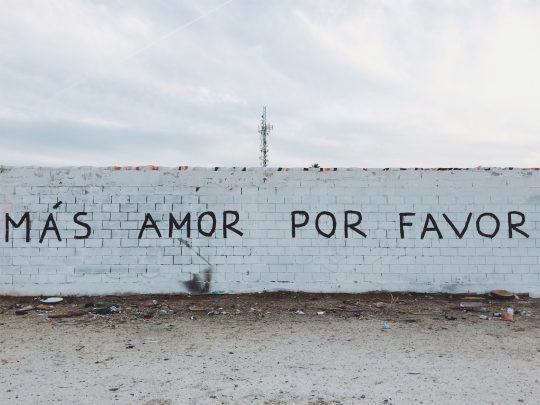 A picture of Spanish graffiti